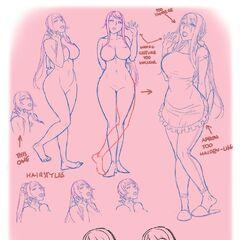 Sketches of Ryoba. Made by Kjech
