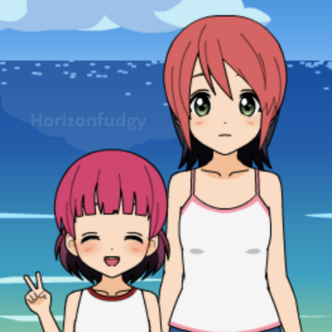 Young Pippi and her little sister Hisa