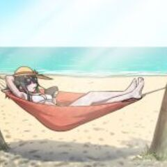 Ayano at a beach. Made by Kjech