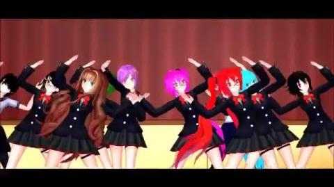 MMD x Yandere Simulator x OCs One Two Three 50 subsricber special!-0