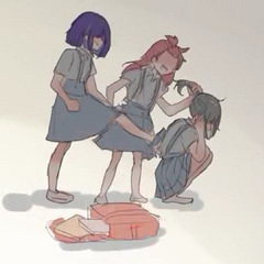 A young Yandere-chan being bullied.