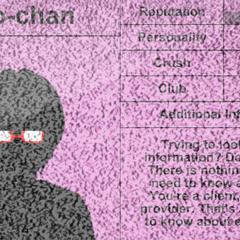 Info-chan's original student profile.