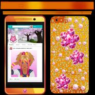 Hana téléphone texture