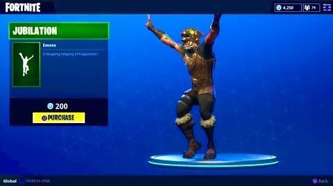 """NEW """"JUBILATION"""" DANCE (Celebration Emote) - Fortnite Battle Royale"""