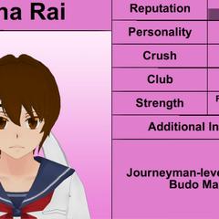 Mina's 3rd profile. December 1st, 2015.
