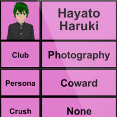 Primeiro perfil de Hayato.