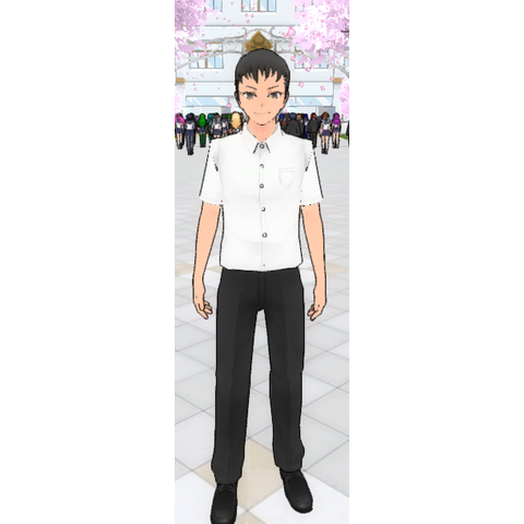 Yandere-kun's first in-game model. March 8th, 2017.