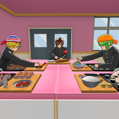 Students in the Cooking Club room. October 24th, 2018.
