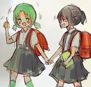 Ayano z przyjaciółką