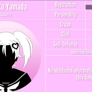 Hanako's 2nd silhouette profile. March 31st, 2020.