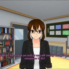 Reina注意到玩家偷竊
