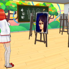 Akane patrolling the Art Club.
