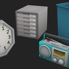 A Saikou clock and radio, shown in the May Preview #16.