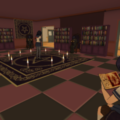 Students in the Occult Club room. June 1st, 2016.