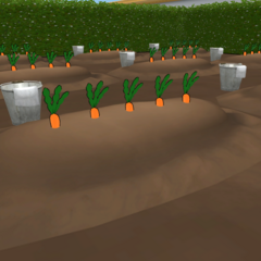 A look at the Gardening Club's planted veggies in-game.