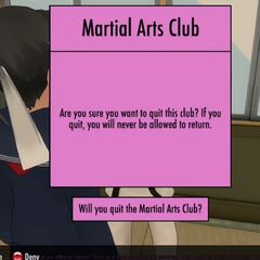 Leaving the Martial Arts Club.