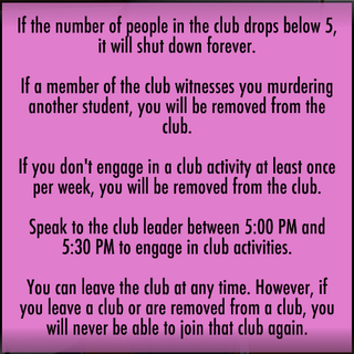 More information on the club.
