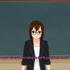 Shiori注意到血腥的玩家