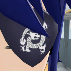 A closer look at Aoi's eyepatch in-game.