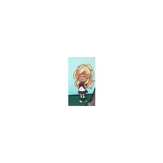 Uma ilustração de Musume na imagem de comemoração ao <a rel=