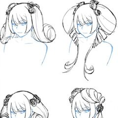Four possible new hairstyles for Kizana in <a rel=