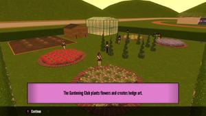 Ayano jako członek klubu ogrodniczego