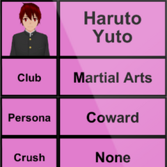 Primeiro perfil de Haruto.