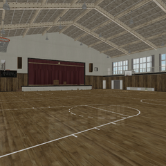 The original gym area.