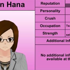 Karin Hana's 6th profile (bugged). March 31st, 2016.