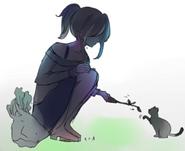 Ayano z kotkiem 1