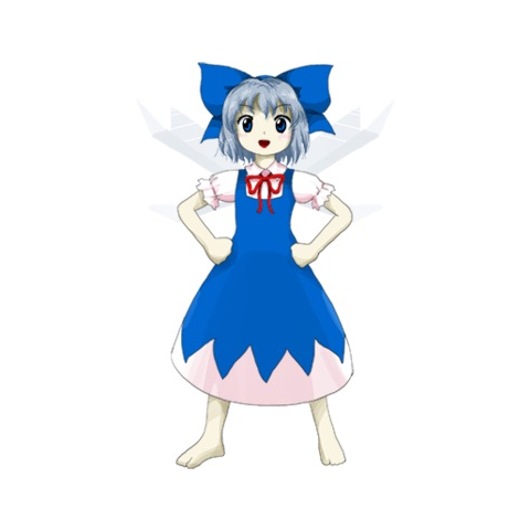 Cirno from <i>Touhou</i>.