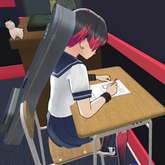 Miyuji writing lyrics.