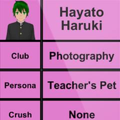 Segundo perfil de Hayato.