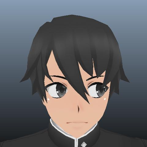 <center>Modelo del peinado de Yandere-kun hecho por <a rel=