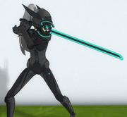 Holding Energy Sword