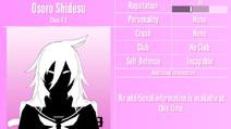 Osoro Shidesu Profile June 1st 2020