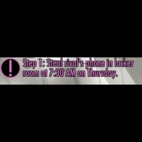 步驟1:在星期四7:30 AM偷走情敵的手機