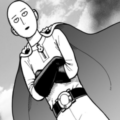 Saitama from One Punch Man.