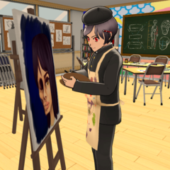 Borupen painting in the Art Club.