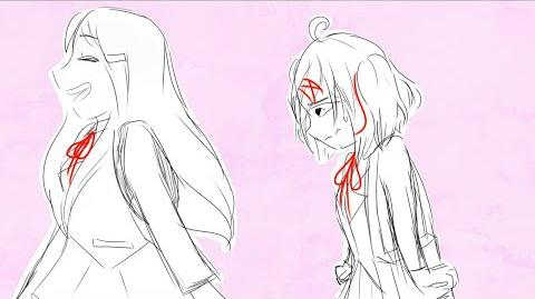 Kiss the girl - DDLC animatic (yuri x natsuki), pretend it says saki x kokona
