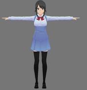 Model nowego mundurka Yandere-chan