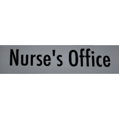 Original Nurse's Office label. February 2nd, 2016.