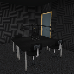 The recording booth. May 10th, 2018.