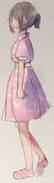 Ayano w różowej sukience