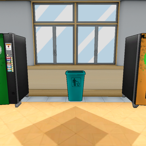 Two vending machines located at the Cafeteria.