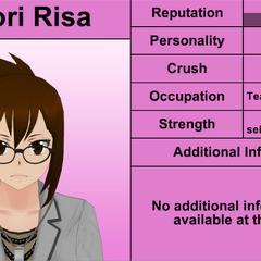 Shiori Risa's 7th profile (bugged). March 31st, 2016.