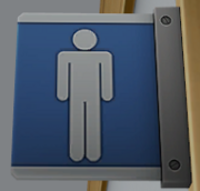 Male bathroom label