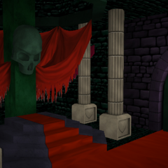 Environment in <i>Yanvania</i> Boss Stage.