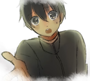 Zmartwiony Senpai w Yandere-chan's Childhood