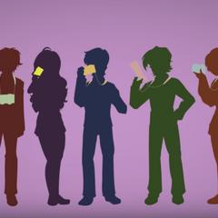 Dafuni y los otros miembros en la atmósfera media vistos en el mismo vídeo.